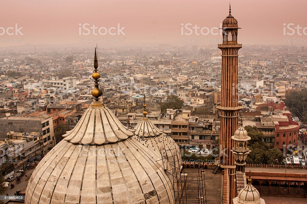 Delhi skyline stock photo