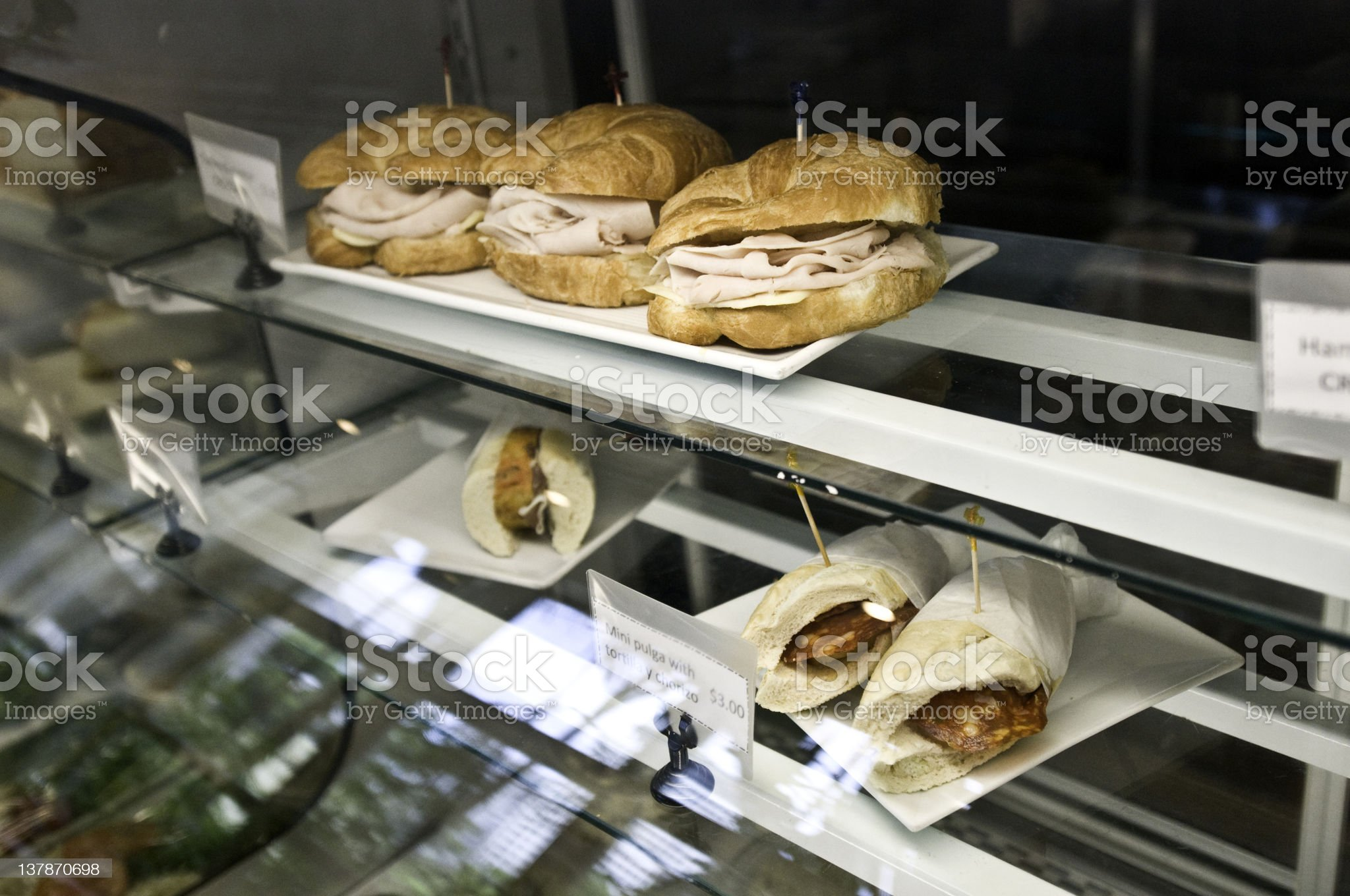 Deli counter cooler royalty-free stock photo