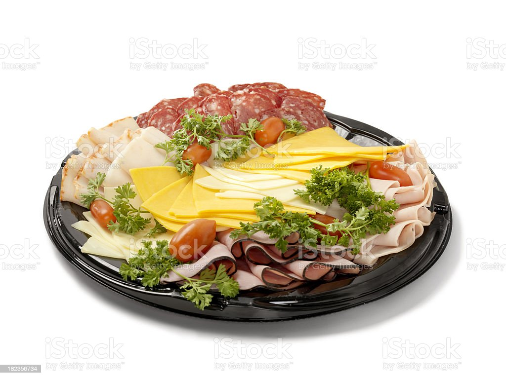 Deli Meat and Cheese Party Tray royalty-free stock photo