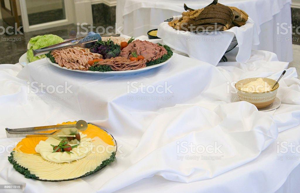 Deli Meat Sandwich Station stock photo