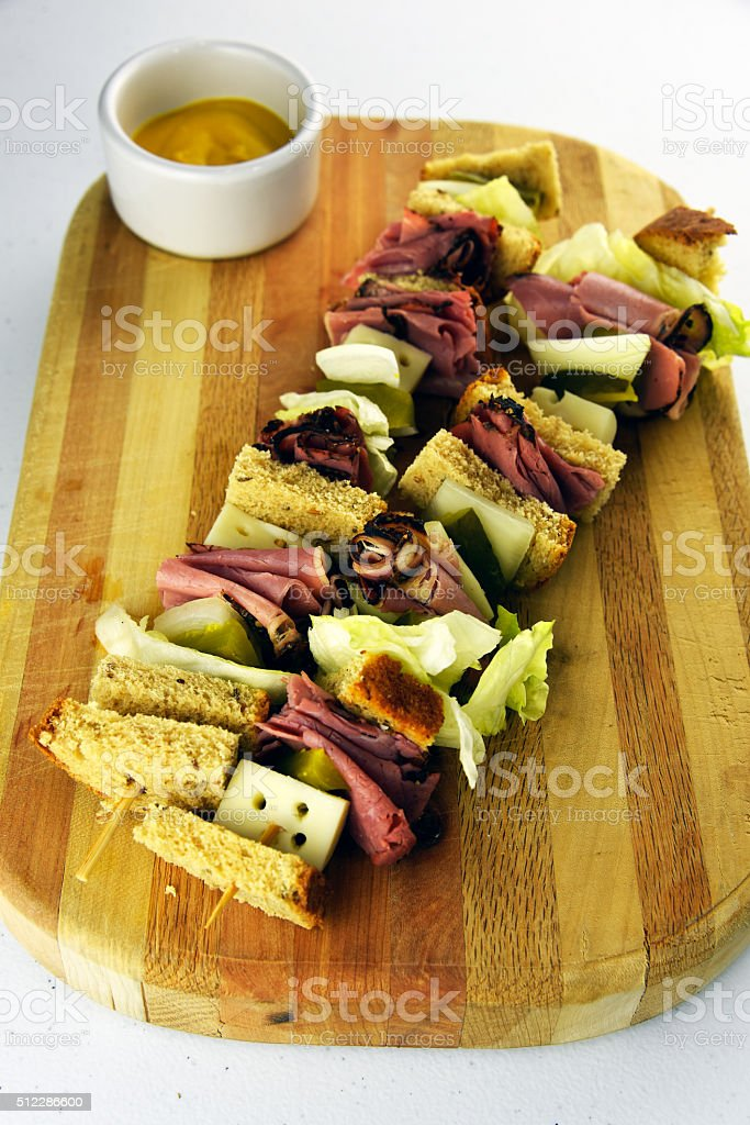 Deli Pastrami royalty-free stock photo