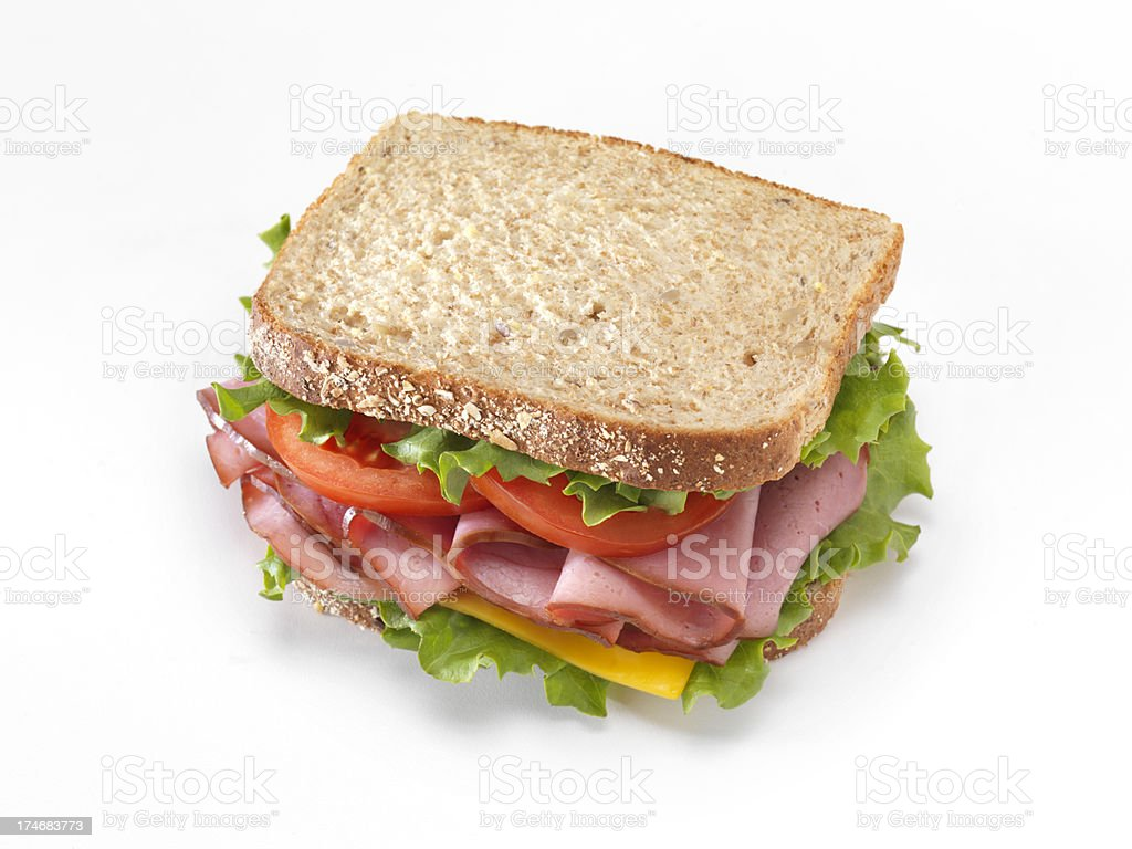 Deli Pastrami Sandwich royalty-free stock photo