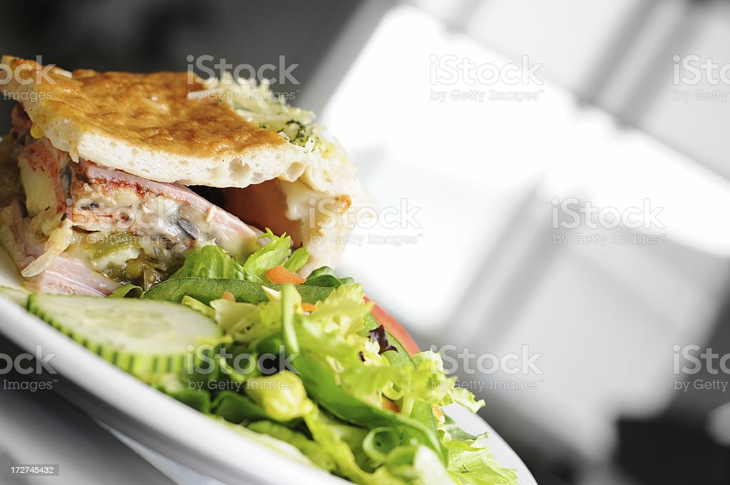 Deli Pie & Side Salad stock photo
