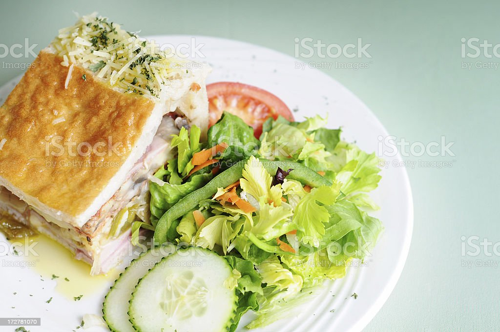 Deli Pie & Side Salad royalty-free stock photo