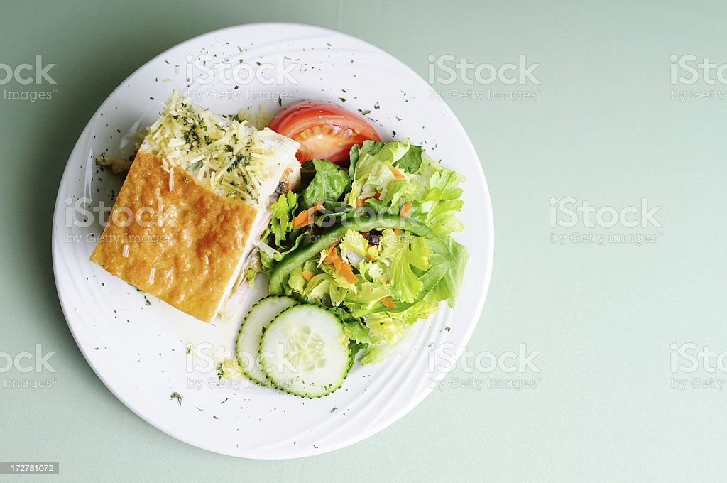Deli Pie & Side Salad stock photo