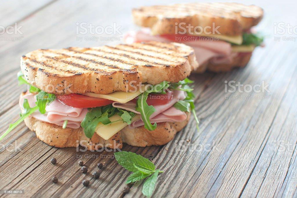 Deli sandwiches stock photo
