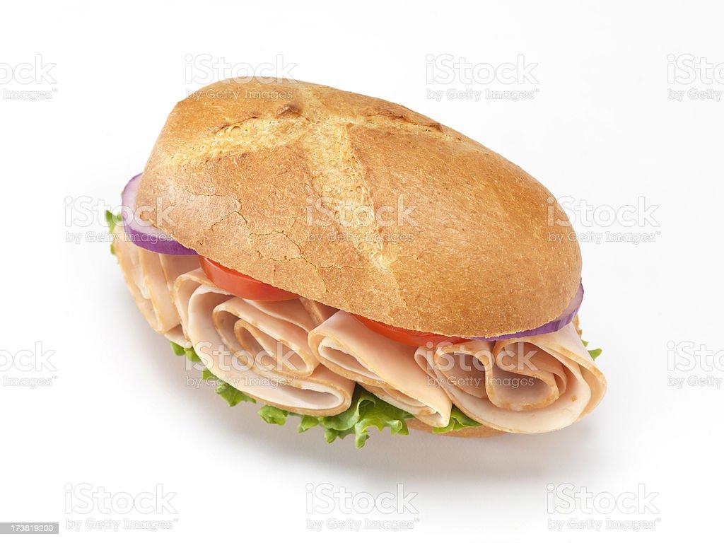 Deli Style Turkey Sandwich royalty-free stock photo