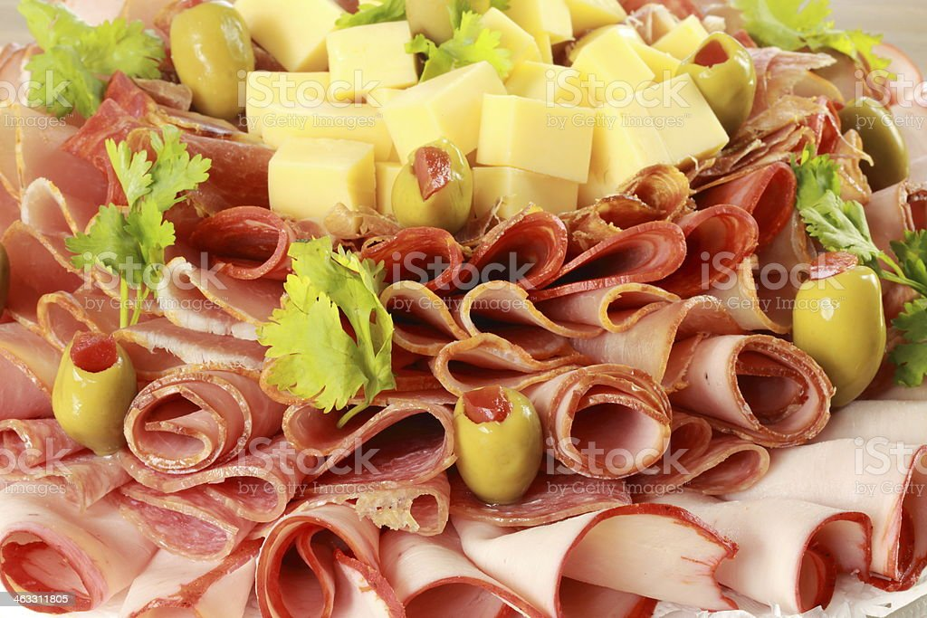 Deli Tray stock photo