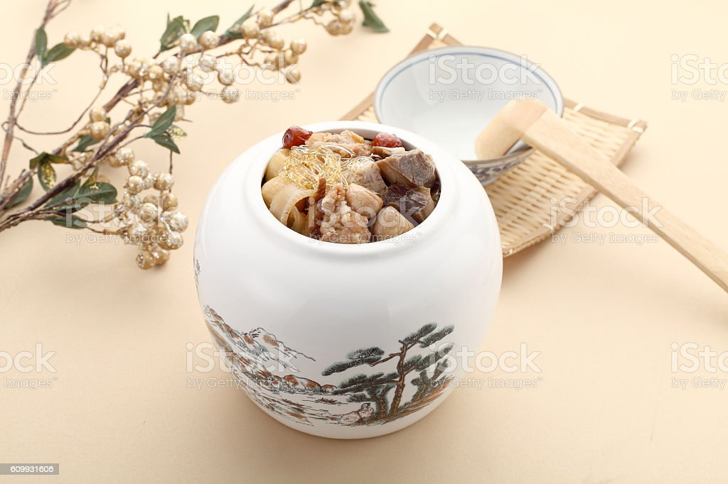 Delicacies pretenders mad monk in white bowl in asia stock photo
