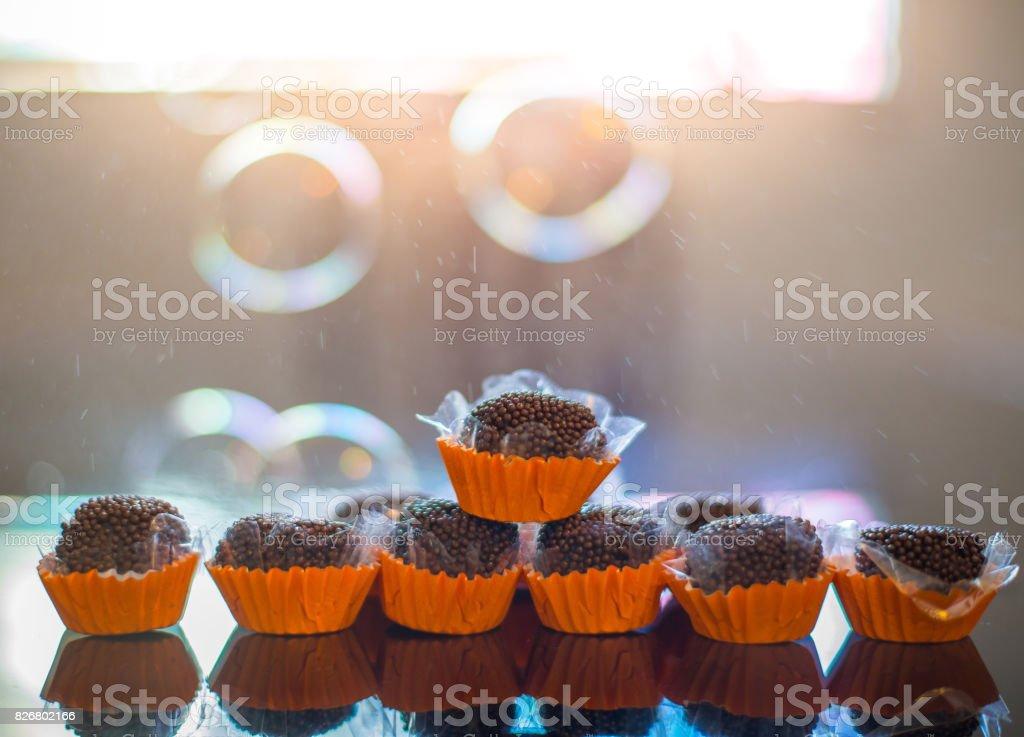 Delicacy - Brigadeiro stock photo