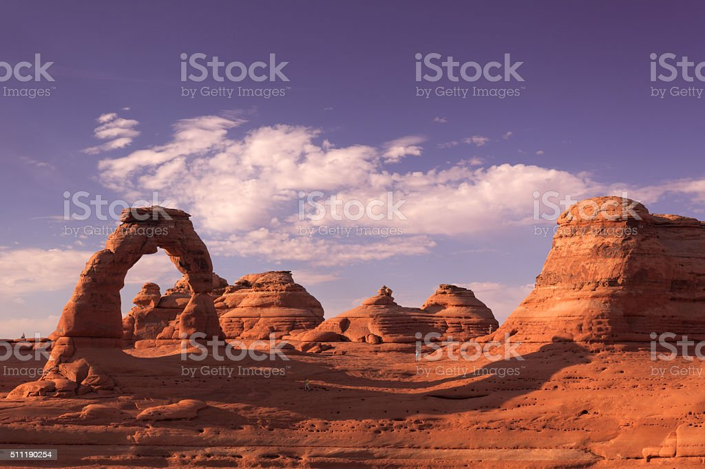 Delicate Arch, Arches National Park stock photo