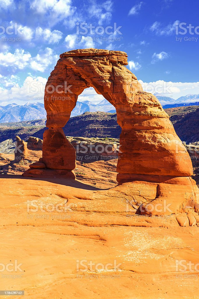 Delicate Arch, Arches National Park, Utah stock photo