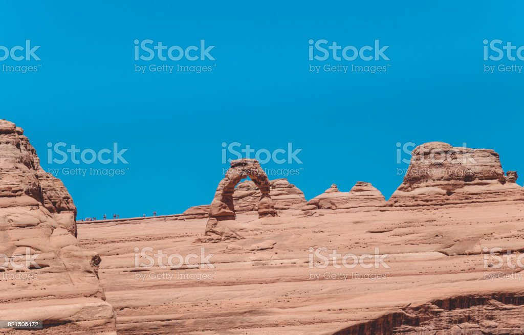 Delicate arch. Natural picturesque stone arches in the Moab Desert stock photo