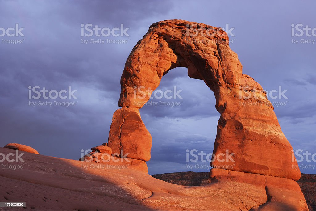 Delicate Arch (H) royalty-free stock photo