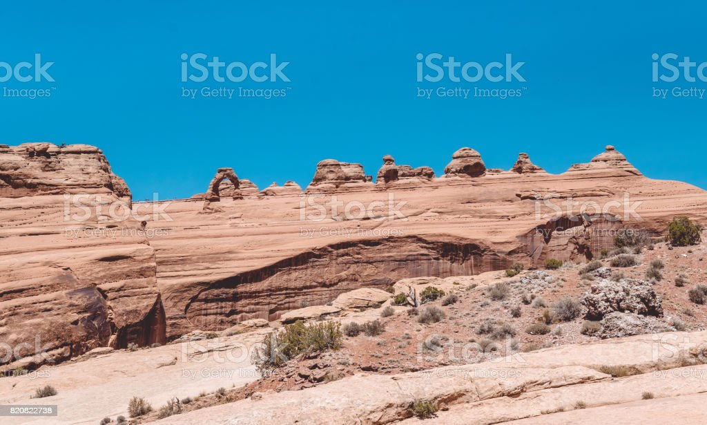 Delicate arch. Sightseeing of the Arches National Park, Utah stock photo