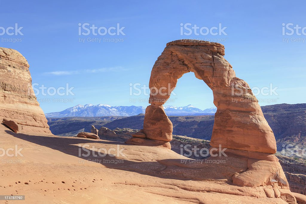 Delicate Arch Utah USA stock photo
