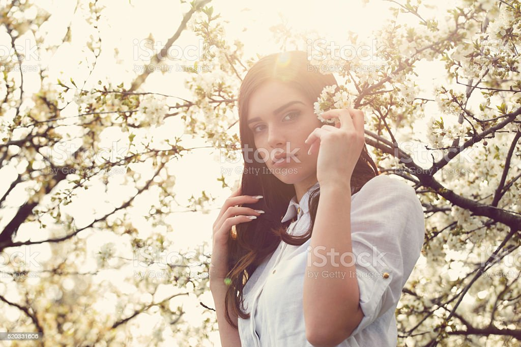 Delicate Beauty Of A Woman stock photo