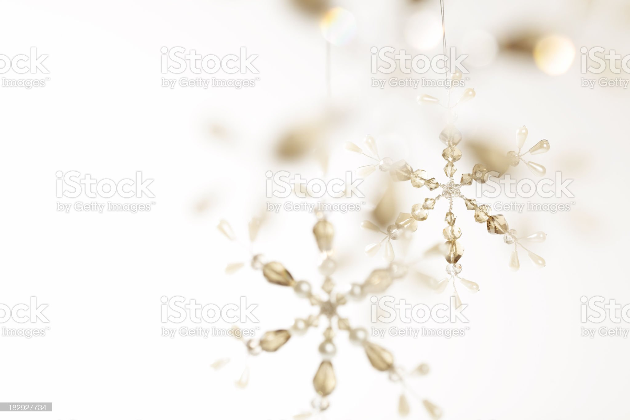 Delicate Christmas snowflake royalty-free stock photo