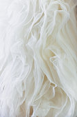 Delicate detail of a wedding dress