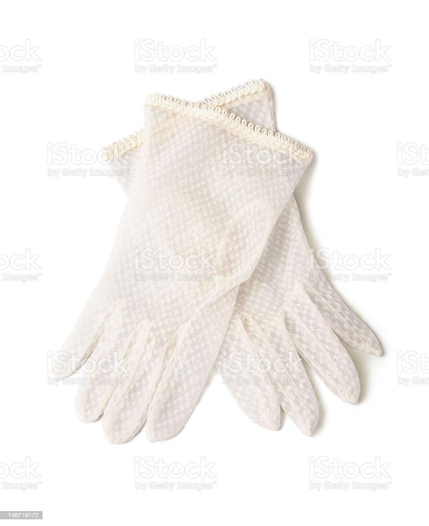 Delicate gloves stock photo