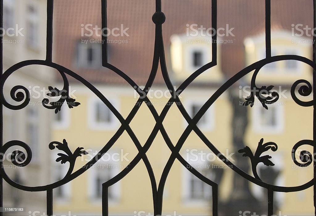 Delicate metal fence royalty-free stock photo