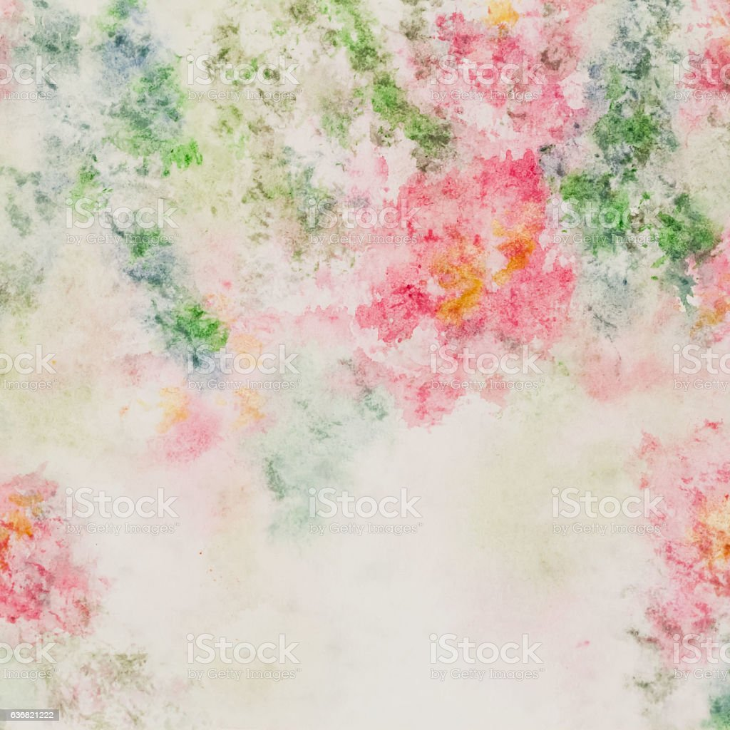 Delicate pink flowers  in soft pastel color in blur style stock photo