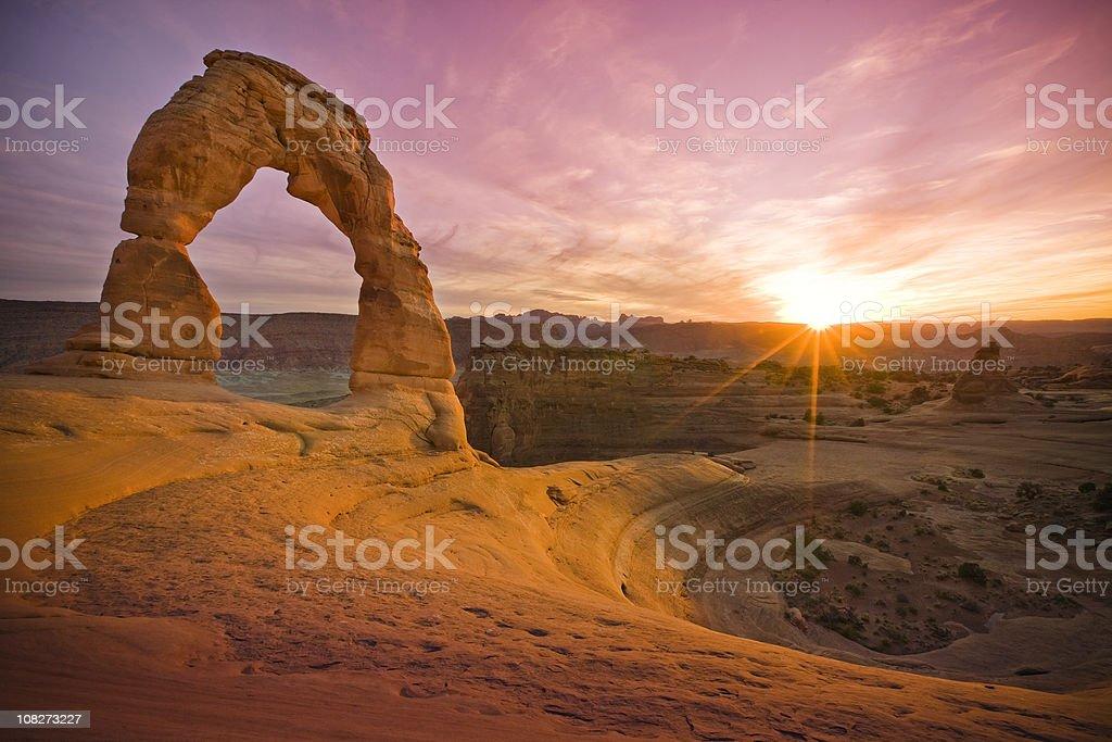 Delicate Sandstone Arch in Rock Moab Utah stock photo