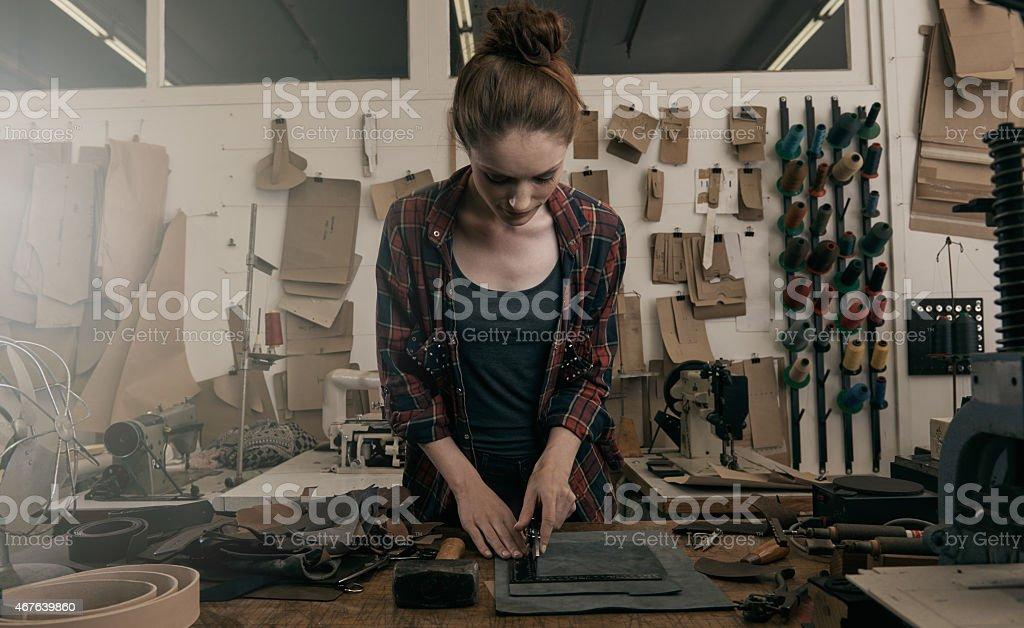 Delicate work stock photo