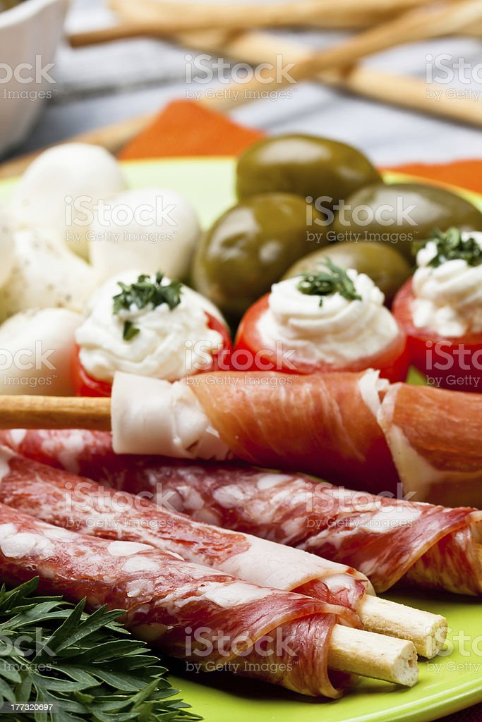 delicatessen appetizers royalty-free stock photo