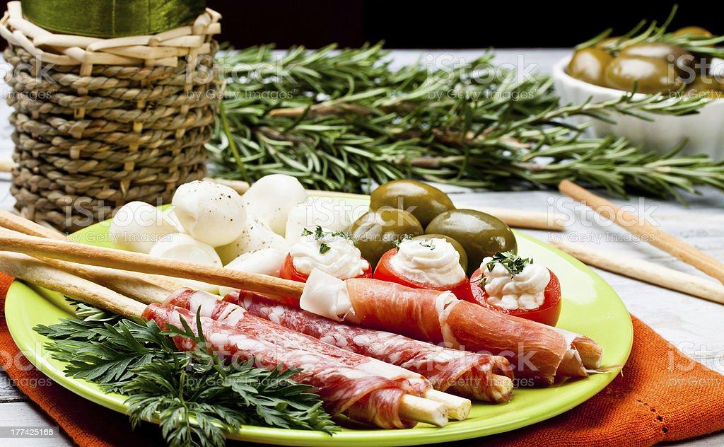 delicatessen appetizers royalty-free stock photo