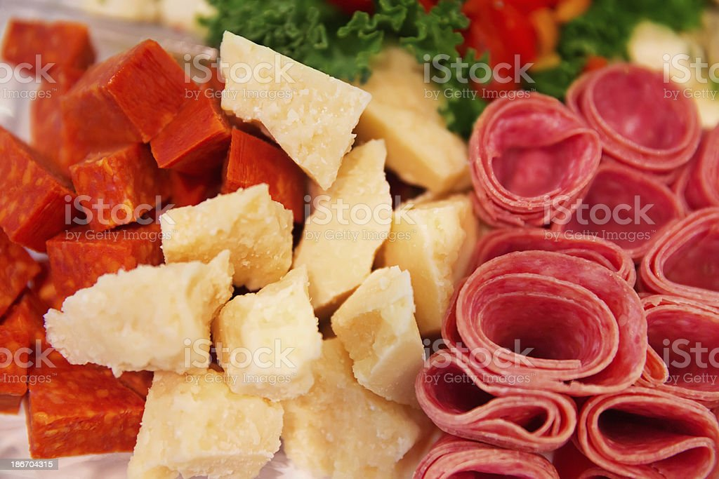 Delicatessen party plater.  RM royalty-free stock photo