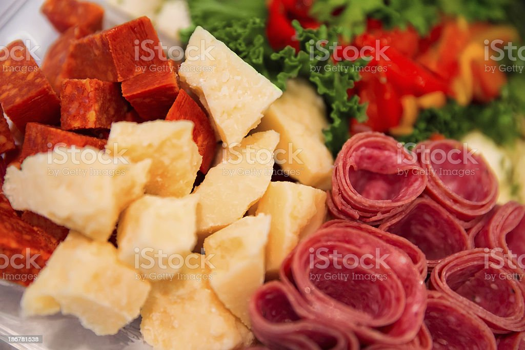 Delicatessen Party platter royalty-free stock photo