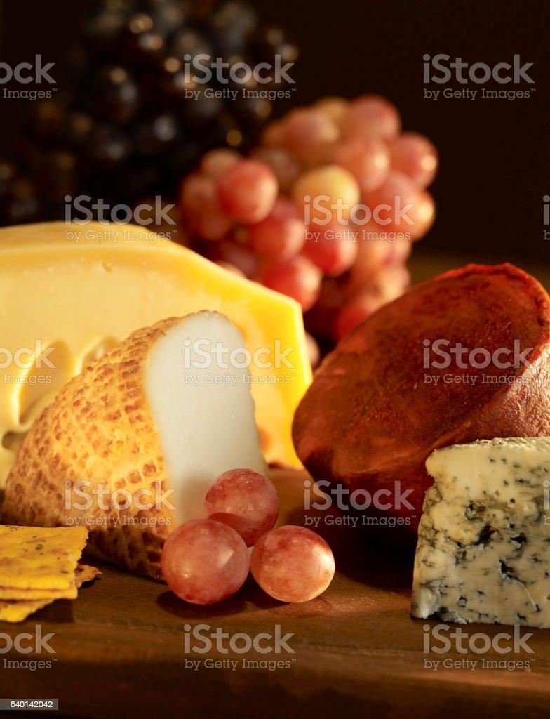 Delicatessen plate stock photo