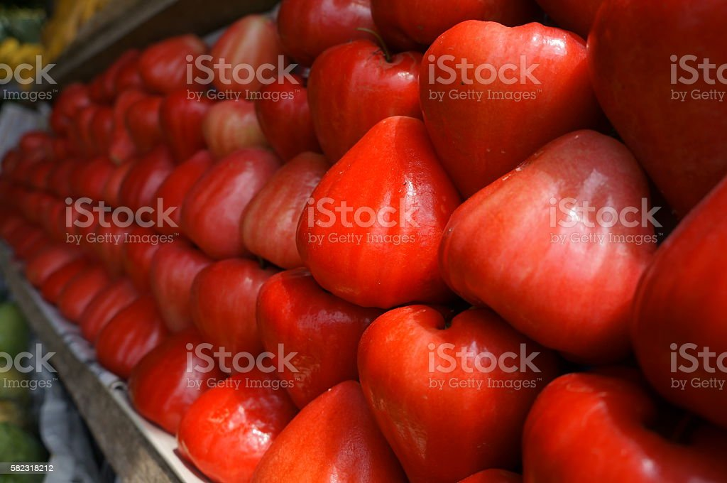 Delicious and Fresh Rose Apple stock photo