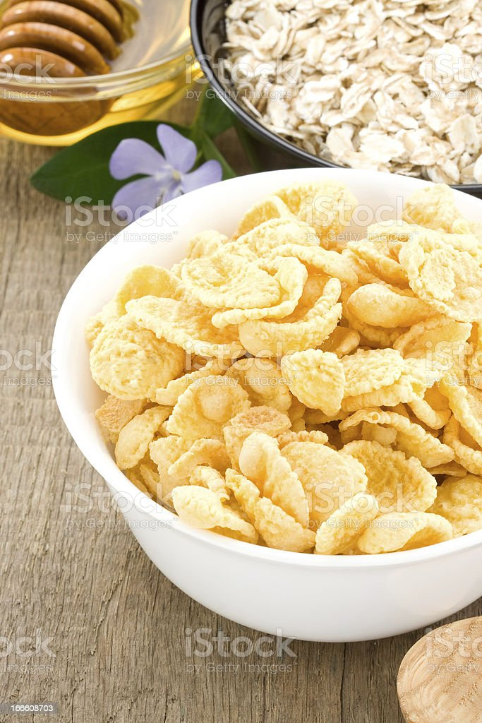 delicious and healthy corn flakes royalty-free stock photo