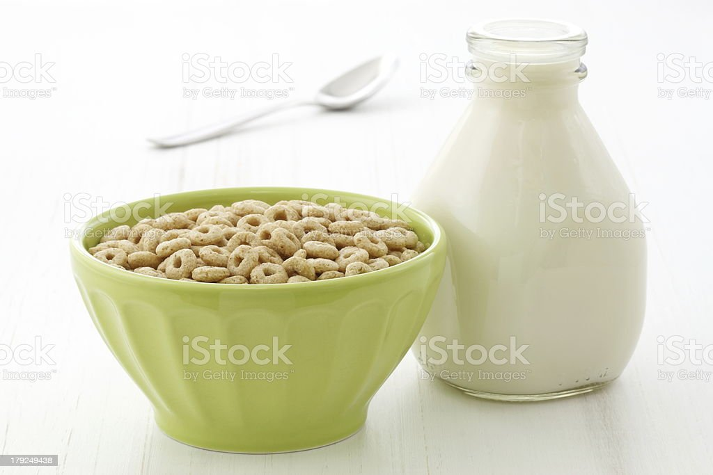 Delicious and healthy honey nuts cereal royalty-free stock photo