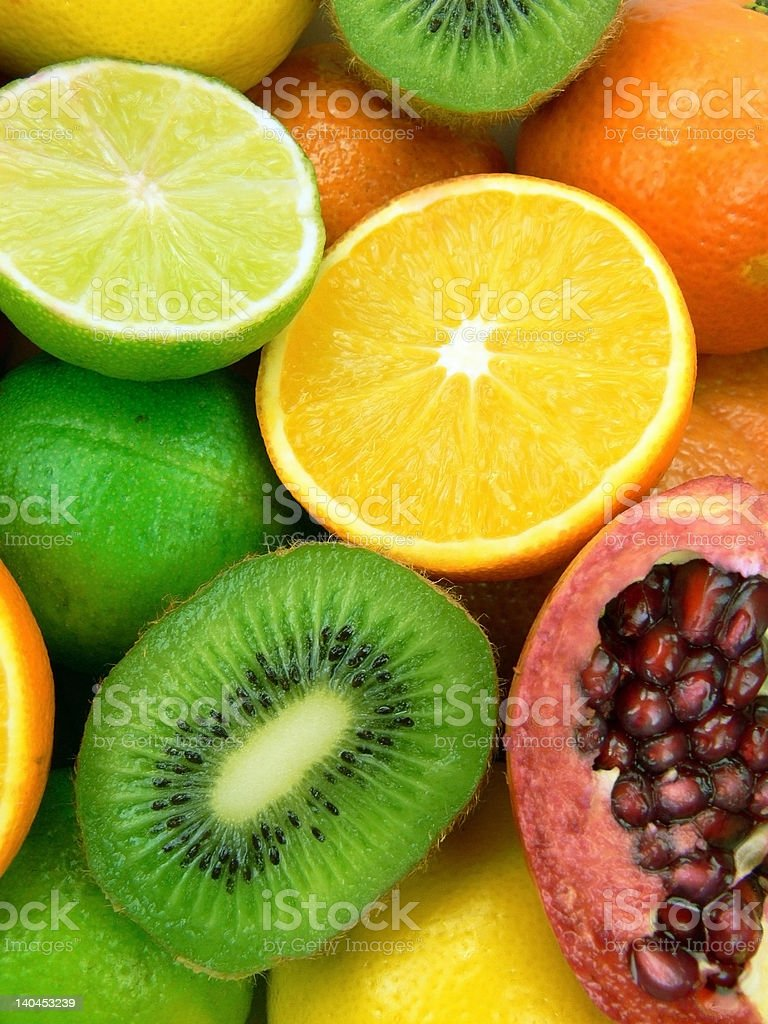 Delicious and juicy fruits royalty-free stock photo
