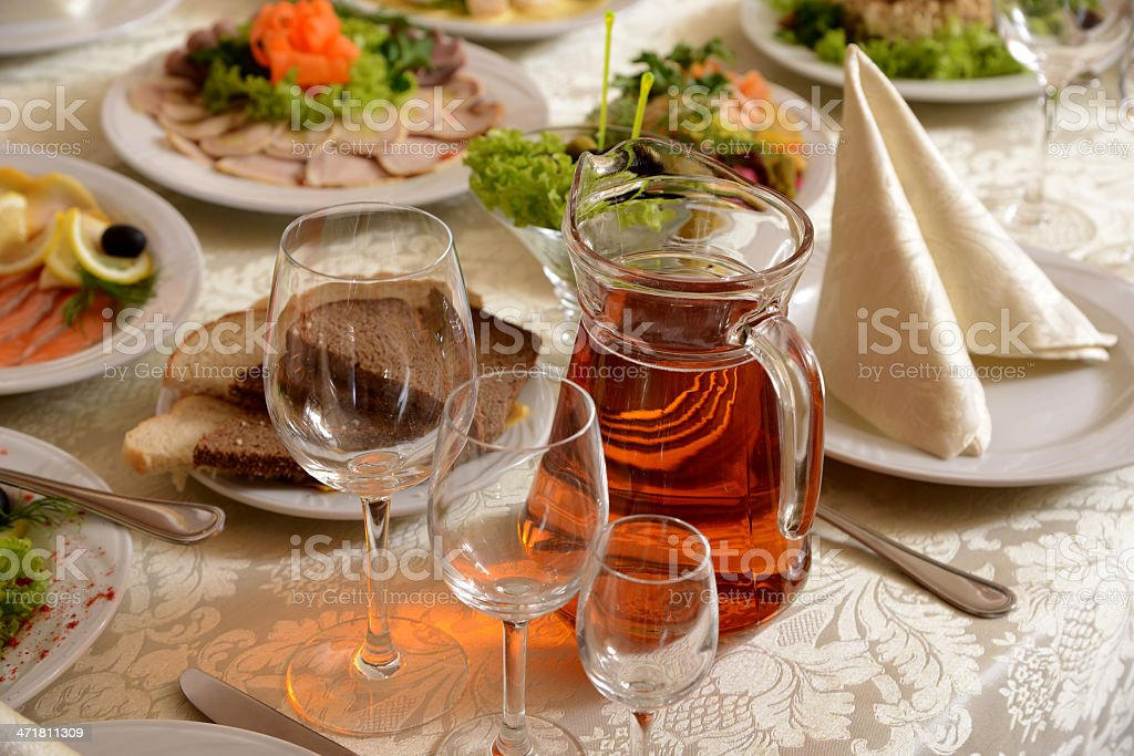 Delicious and varied food royalty-free stock photo