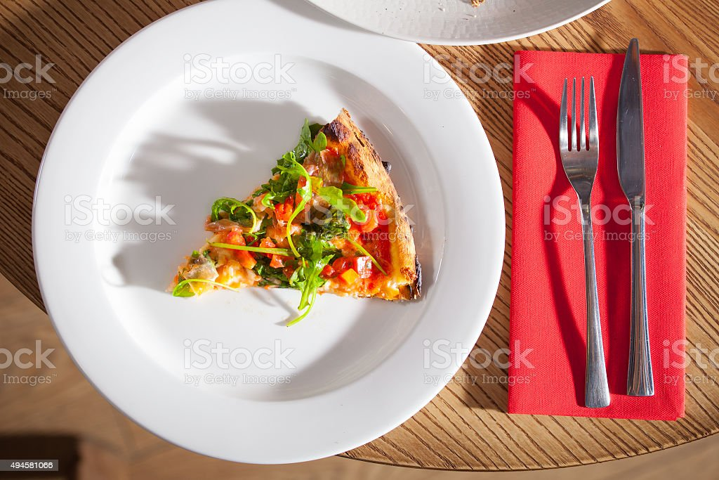 Delicious appetizer on white plate stock photo