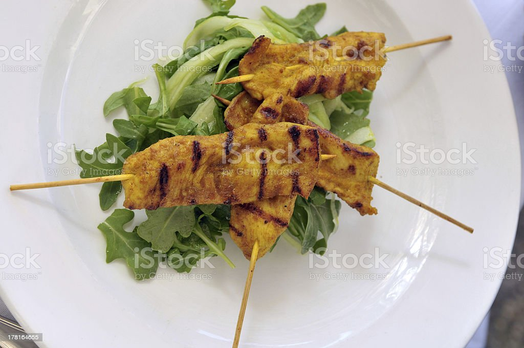 Delicious Asian Cuisine food toast curry chicken royalty-free stock photo
