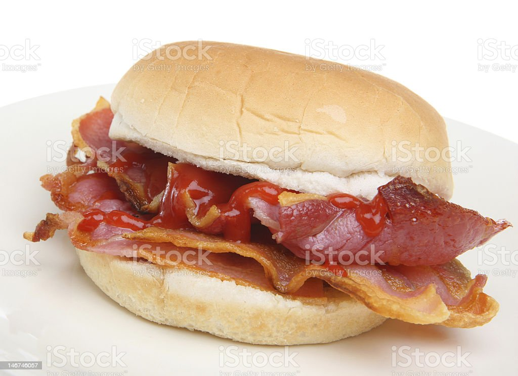 Delicious Bacon breakfast roll royalty-free stock photo