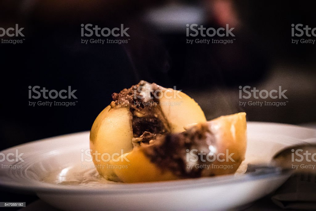 delicious baked apple stock photo