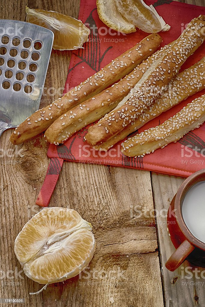Delicious baking from a test with orange. royalty-free stock photo