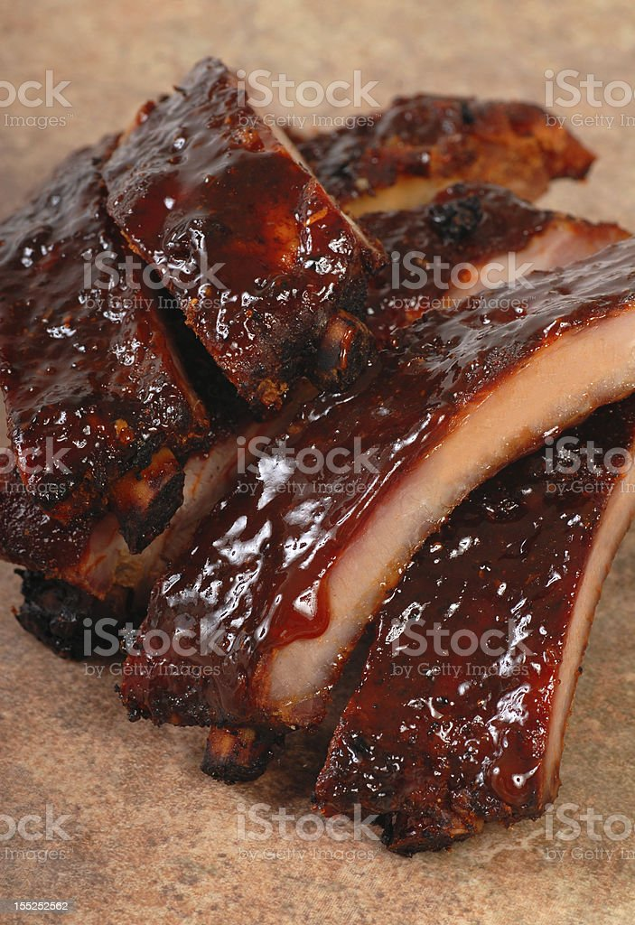 Delicious BBQ ribs royalty-free stock photo