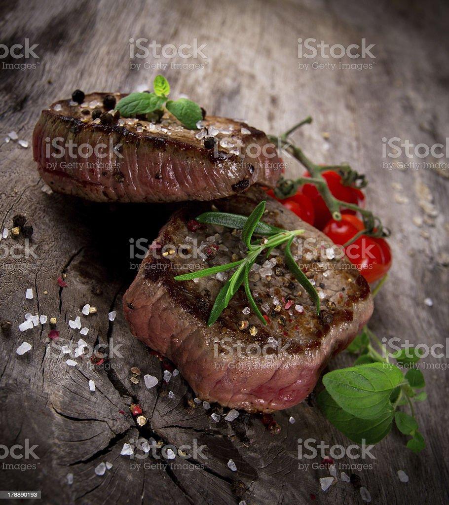 Delicious beef steak stock photo