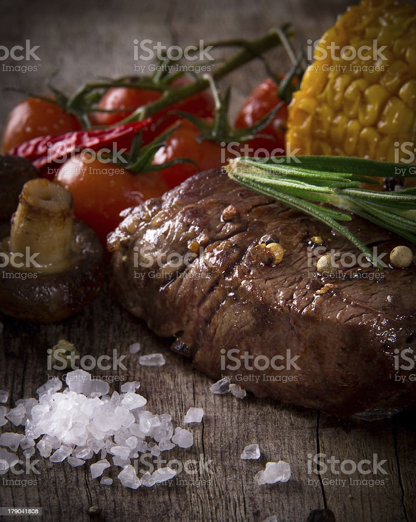 Delicious beef steak royalty-free stock photo