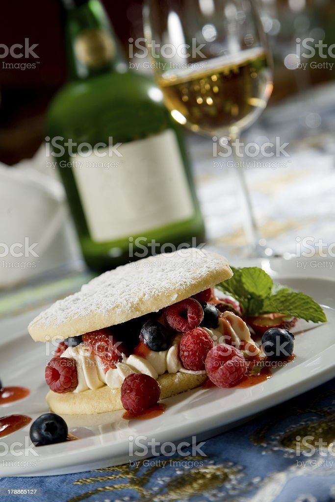 Delicious berry dessert royalty-free stock photo