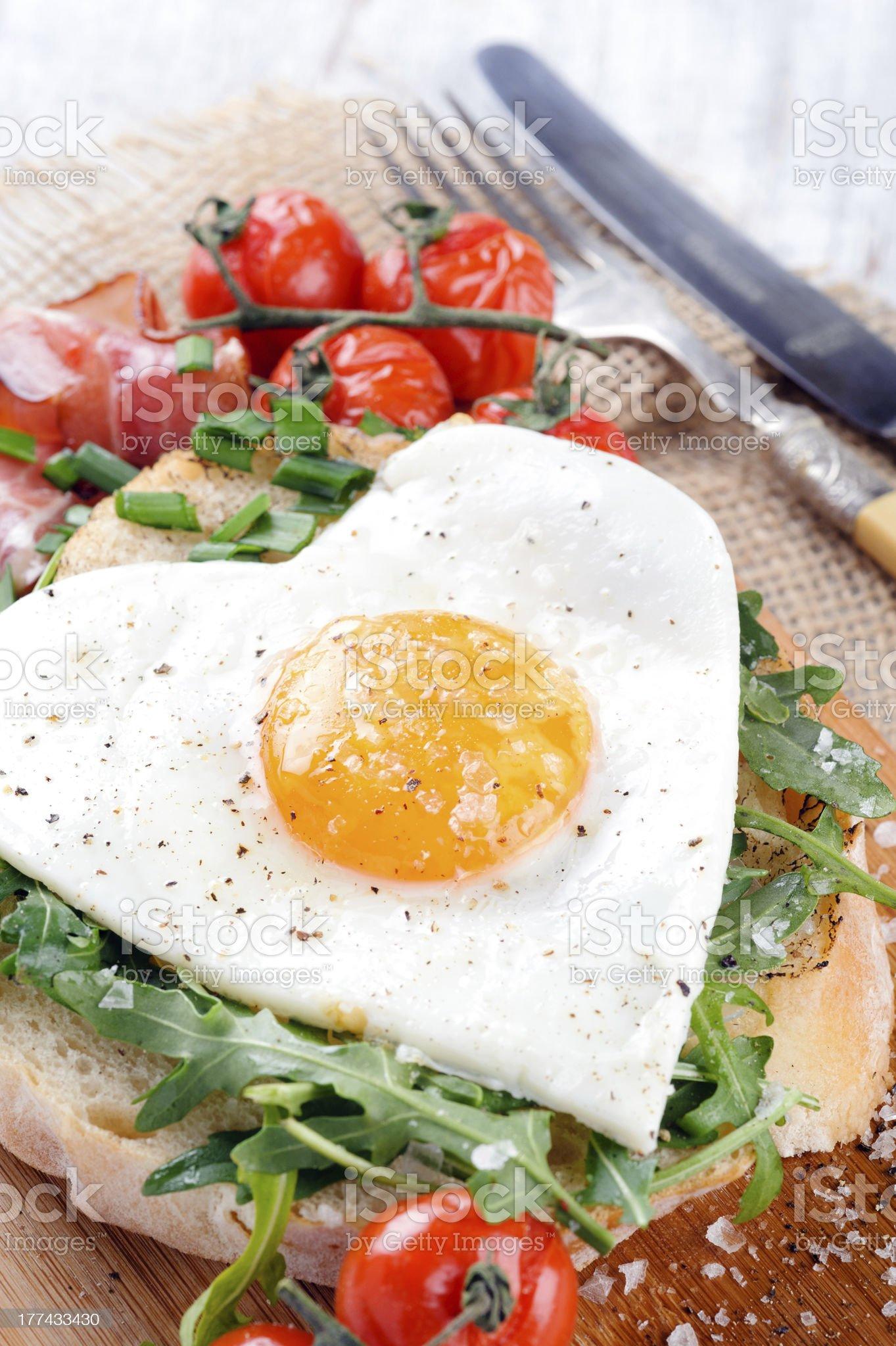 Delicious big breakfast royalty-free stock photo