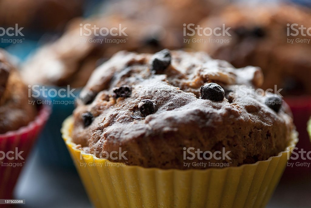 Delicious blueberry cupcake royalty-free stock photo