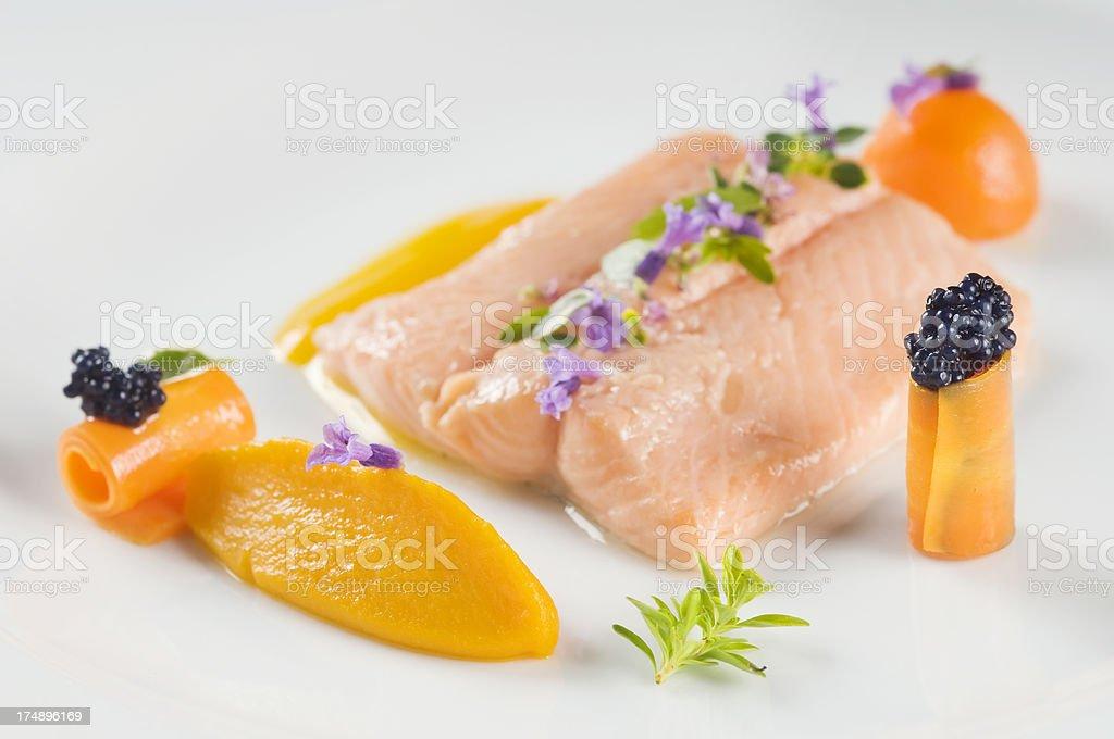 Delicious boiled salmon royalty-free stock photo